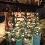 Un albero vero per questo Natale in chiave Shabby